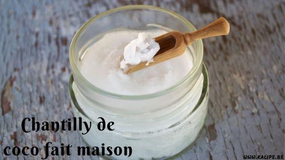 Chantilly De Coco Fait Maison Kalipe